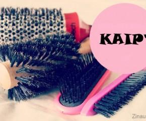 Kaip valyti plaukų šepečius