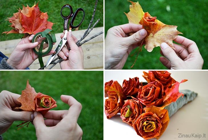 Kaip-pasidaryti-rozes-is-klevo-lapu1