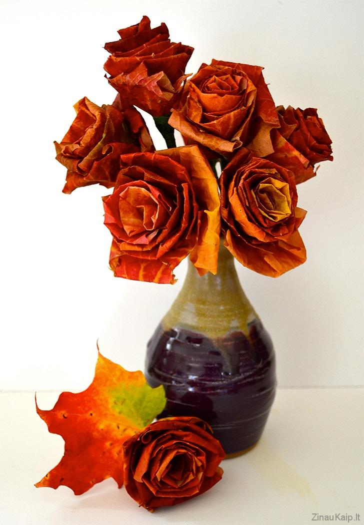 Kaip-pasidaryti-rozes-is-klevo-lapu2