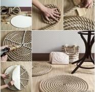 Kaip pasidaryti kilimėlį iš virvės
