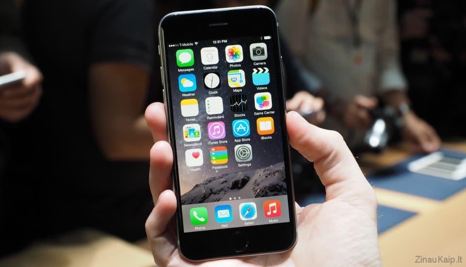 Kaip prailginti iPhone baterijos veikimo laiką