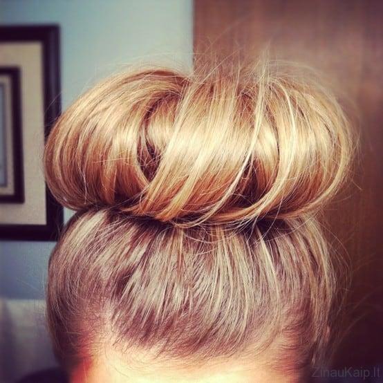 Kaip pasidaryti didelį plaukų kuodą