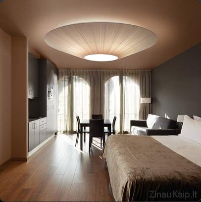 Kaip pakabinti lubinį šviestuvą