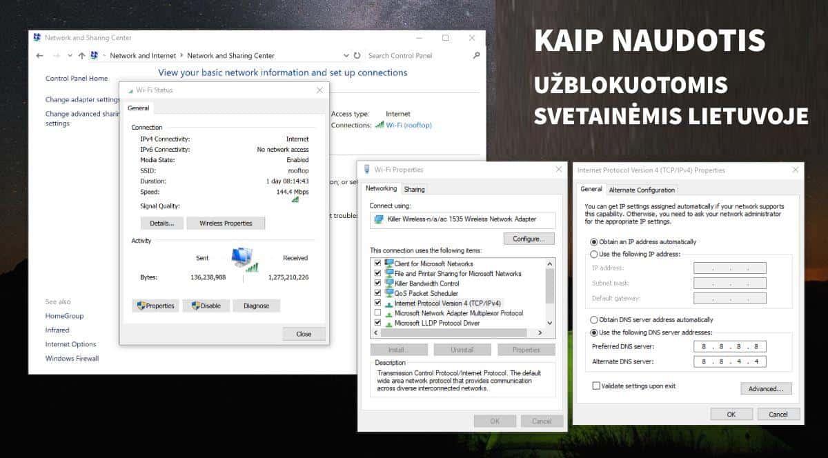 Kaip naudotis Linkomanija.net Torrent.lt ir kitomis blokuotomis svetainėmis Lietuvoje