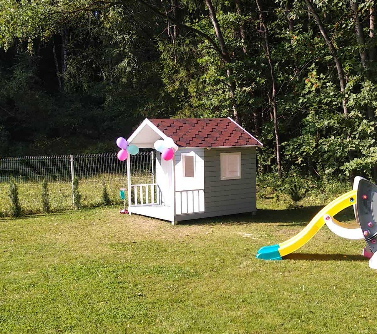 Kaip pačiam pastatyti medinį vaikų žaidimų namelį