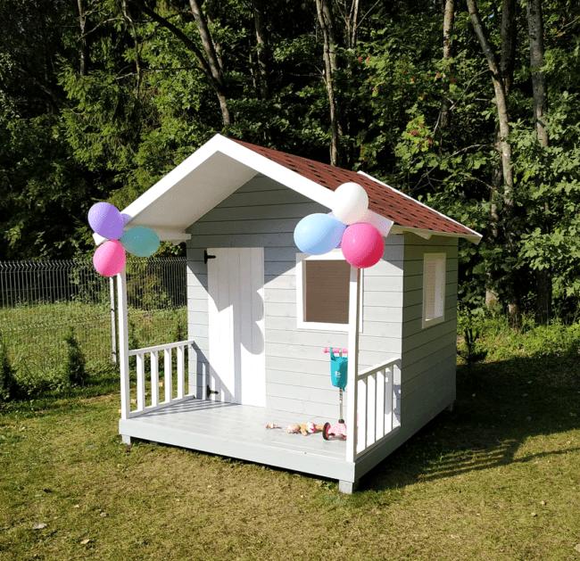 vaikiškas medinis namelis vaikams